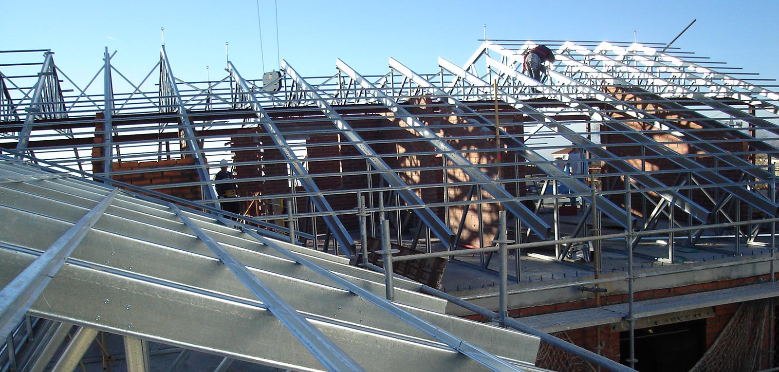 Estructura Metalica Para Cubiertas. Simple Cubierta Ligera Panel ...